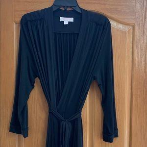 Oscar de la Renta long black robe